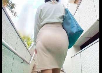 【熟女ナンパ企画】『美熟女!スレンダーで美人人妻熟女おばさんが誘惑』タイトスカートなデカ尻美魔女の人妻ナンパ 素人ナンパ