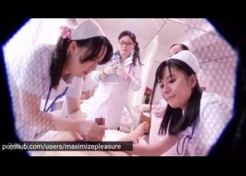 女医とナース集団の前でおチンポ丸出し…しごかれ、バイブを押し当てられ、勃起したら強制ミルク搾り!