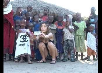 【海外出張企画】黒ギャルが深刻な女性不足で悩むアフリカの村で現地少年とSEXボランティア!