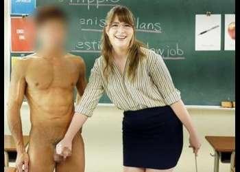 『日本の男の子とSEXしたい!』現役のアメリカ人英語高校教師が中出しAV出演!