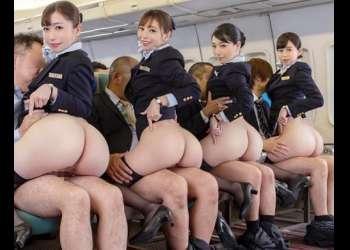 「制服・下着・全裸」でおもてなし!CAが膣をぱっくり広げて極上のサービスを提供するオマンコ航空