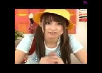 【北川瞳】小学生の妹が兄目線で、チンポを手コキしたりひょっとこフェラする