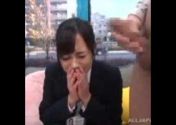【浅野えみ】美人OLがマジックミラー号で、上司のオナニーを見せられる